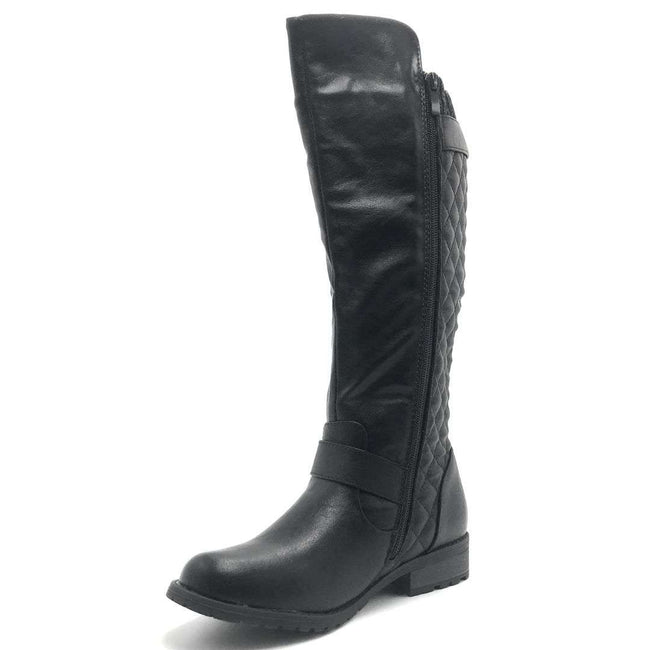 Forever Link Mango-L46 Black Color Boots Shoes for Women