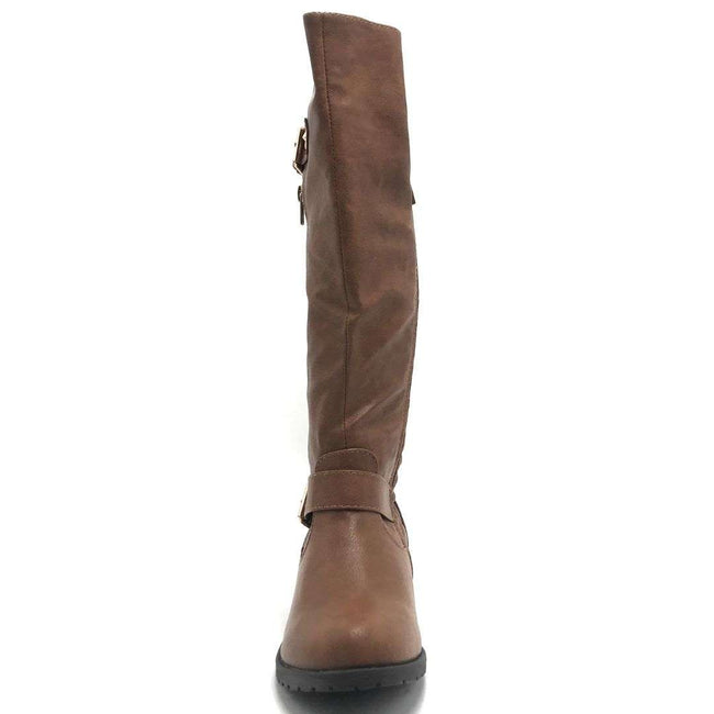 Forever Link Mango-L46 Tan Color Boots Shoes for Women
