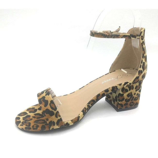 Forever Link Nataly-06 Leopard Color Heels Shoes for Women