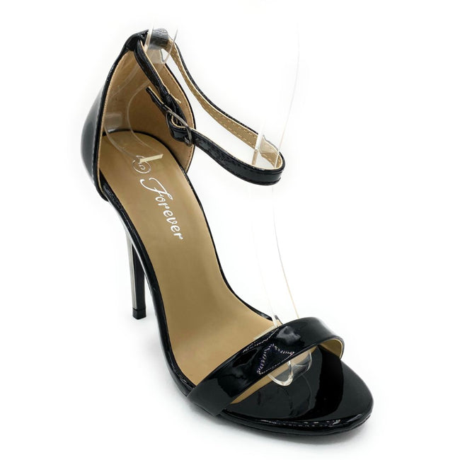 Forever Link Passion-86 Black Color Heels Shoes for Women