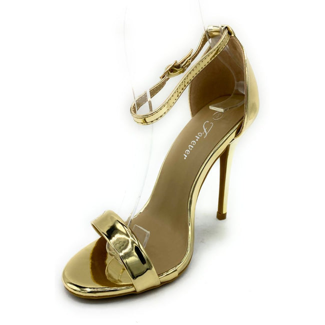 Forever Link Passion-86 Gold Color Heels Shoes for Women
