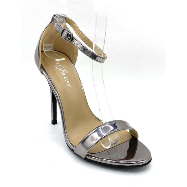 Forever Link Passion-86 Pewter Color Heels Shoes for Women
