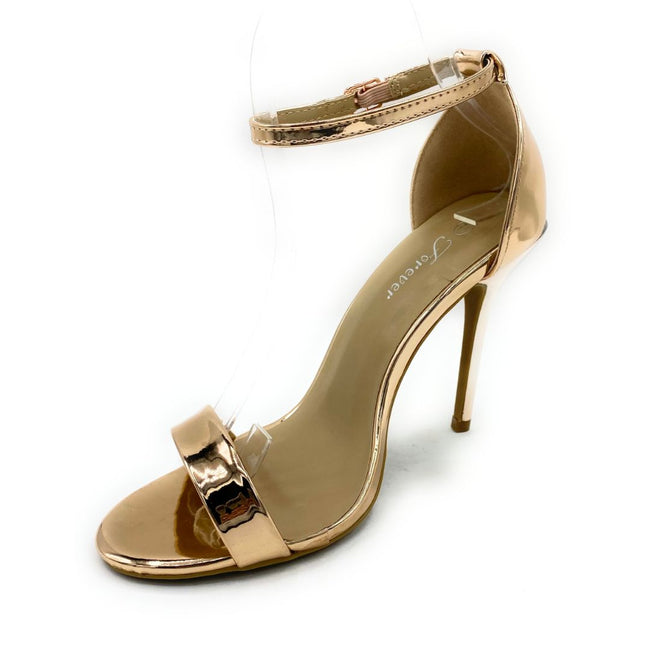 Forever Link Passion-86 Rose Gold Color Heels Shoes for Women