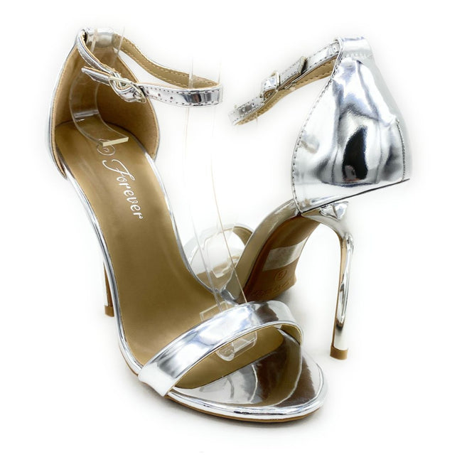 Forever Link Passion-86 Silver Color Heels Shoes for Women