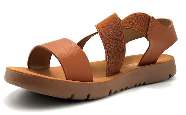 Forever Link Reform-53 Tan Color Flat-Sandals Left Side view, Women Shoes
