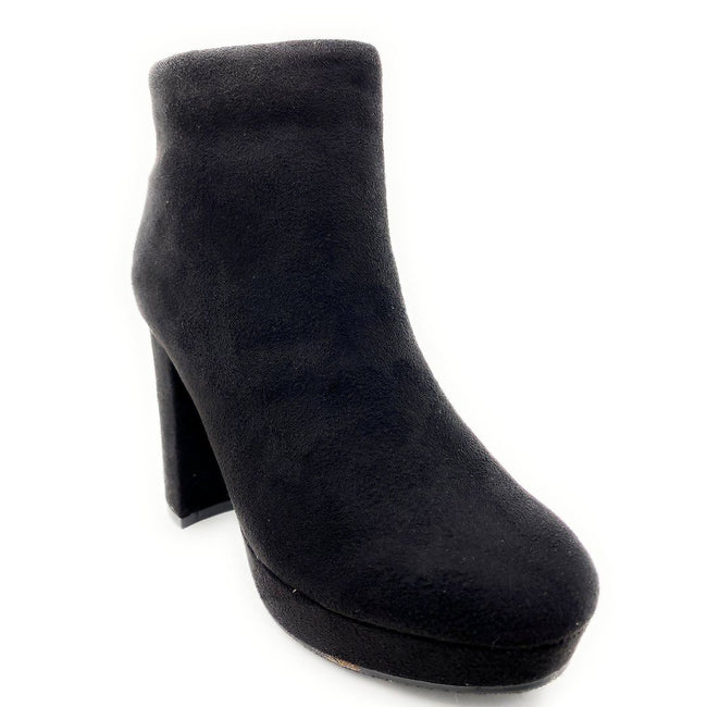 Forever Link Serlin-66 Black Color Boots Right Side View, Women Shoes