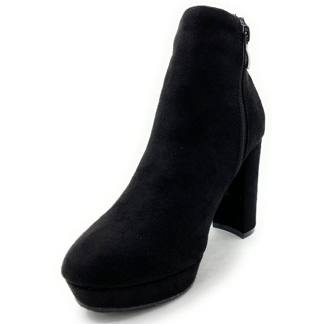 Forever Link Serlin-66 Black Color Boots Left Side view, Women Shoes