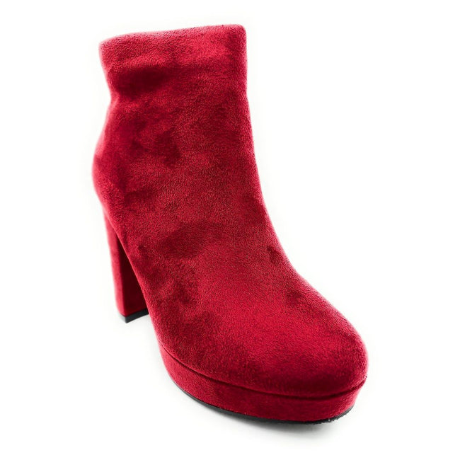 Forever Link Serlin-66 Burgundy Color Boots Right Side View, Women Shoes