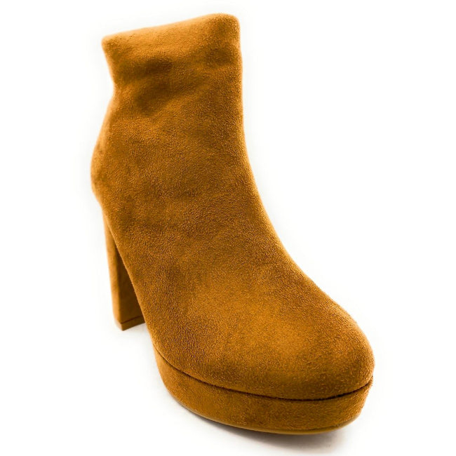 Forever Link Serlin-66 Tan Color Boots Right Side View, Women Shoes