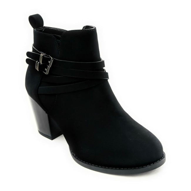 Forever Link Sosanna-1 Black Color Boots Right Side View, Women Shoes