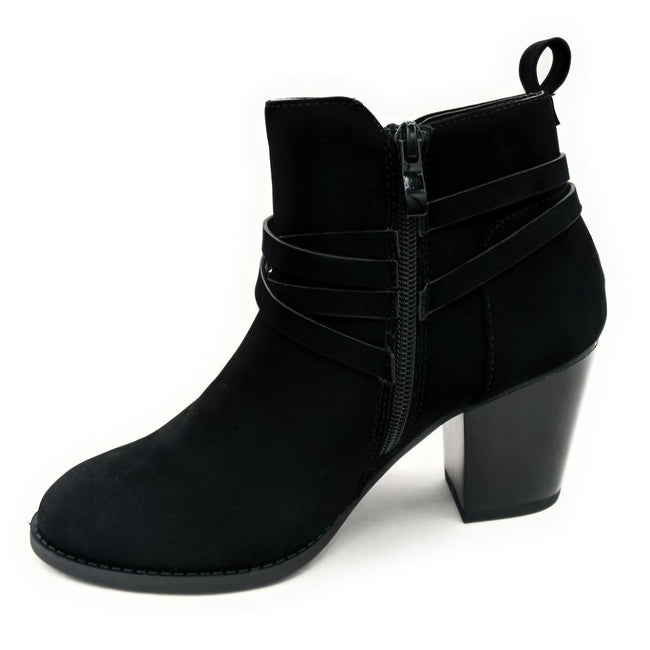 Forever Link Sosanna-1 Black Color Boots Left Side view, Women Shoes