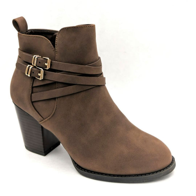 Forever Link Sosanna-1 Brown Color Boots Right Side View, Women Shoes