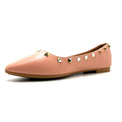 Forever Link Stella-12 Blush Color Ballerina Left Side view, Women Shoes