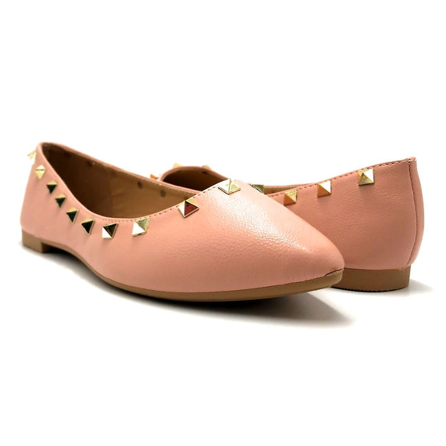 Forever Link Stella-12 Blush Color Ballerina Both Shoes together, Women Shoes