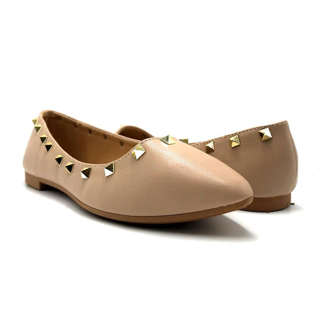 Forever Link Stella-12 Taupe Color Ballerina Both Shoes together, Women Shoes