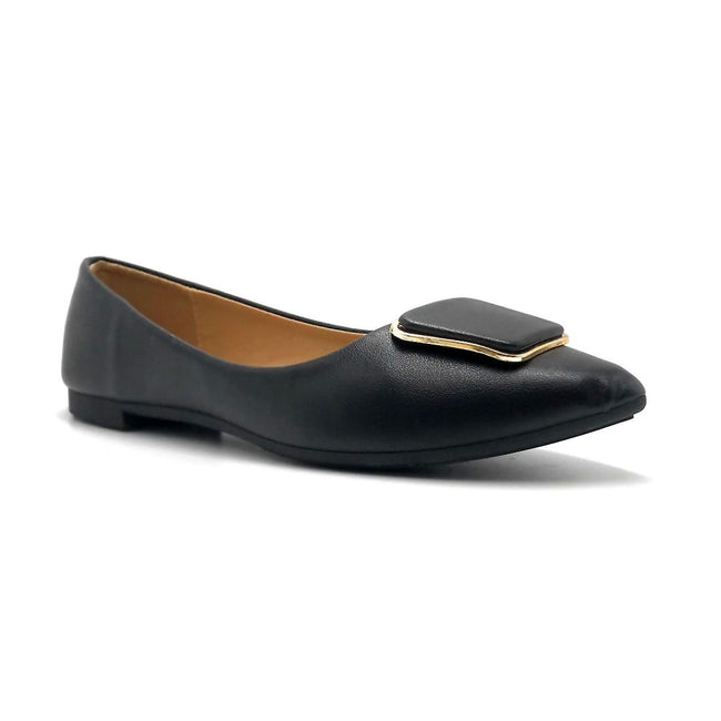 Forever Link Stella-54 Black Color Ballerina Right Side View, Women Shoes