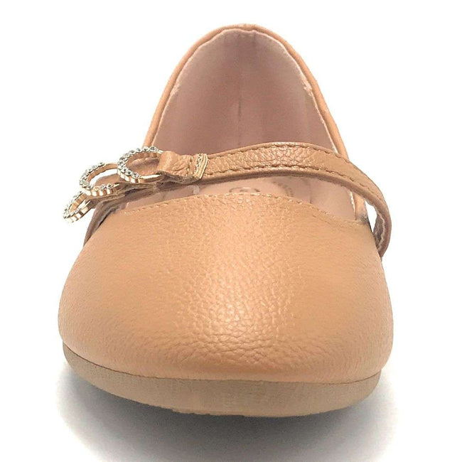 Forever Link Supple-69 Tan Color Ballerina Shoes for Women
