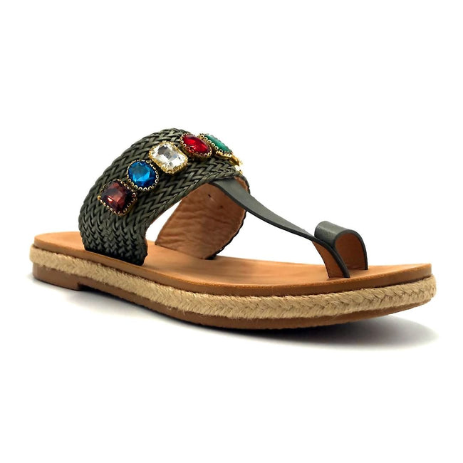 Forever Link Top Line-2 Olive Color Flat-Sandals Shoes for Women