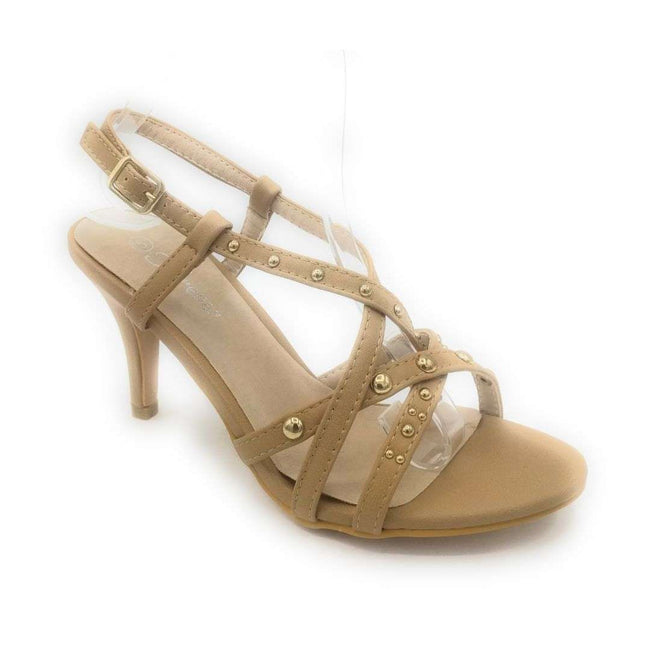 Forever Link Villa-05 Taupe Color Heels Shoes for Women