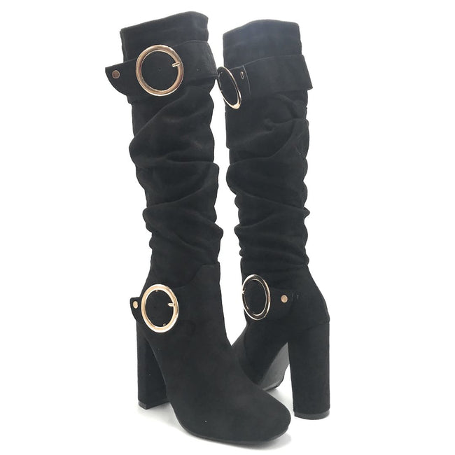 Forever Luciana-30 Black Color Boots Shoes for Women