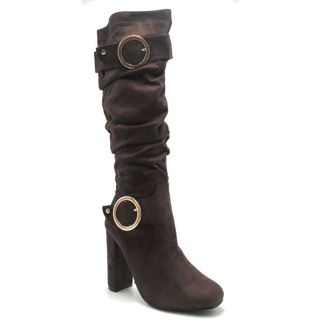 Forever Luciana-30 Brown Color Boots Shoes for Women