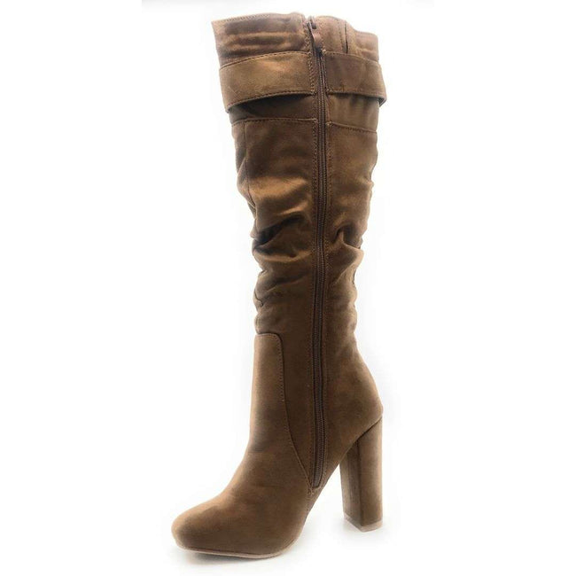Forever Luciana-30 Tan Color Boots Shoes for Women