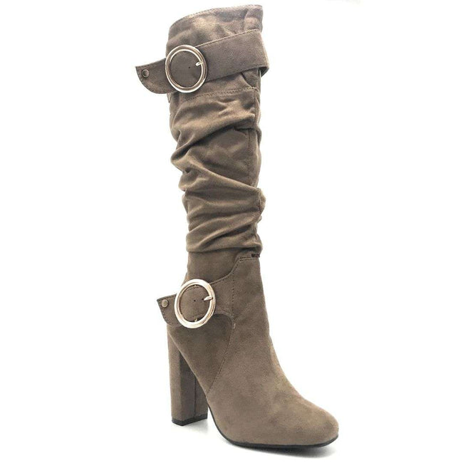 Forever Luciana-30 Taupe Color Boots Shoes for Women