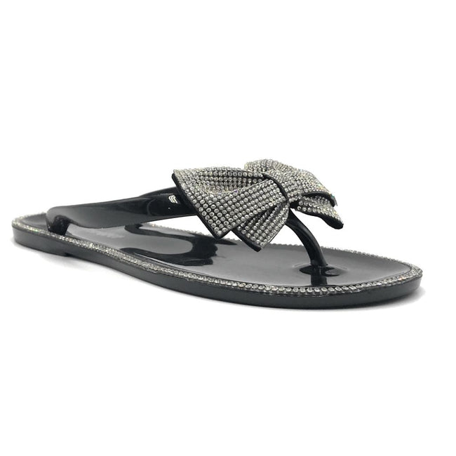 Forever Lucid-13 Black Color Flat-Sandals Right Side View, Women Shoes
