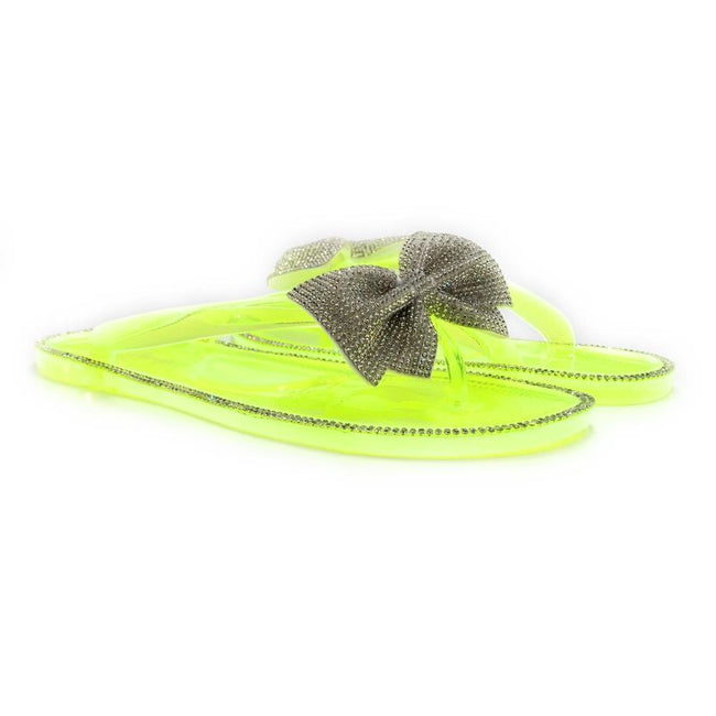 Forever Lucid-13 Neon Yellow Color Flat-Sandals Both Shoes together, Women Shoes