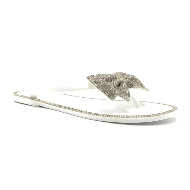 Forever Lucid-13 White Color Flat-Sandals Right Side View, Women Shoes