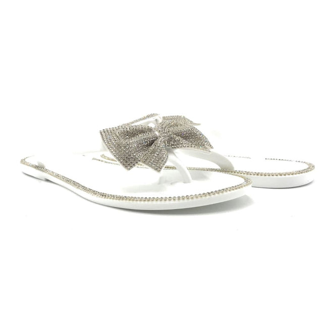 Forever Lucid-13 White Color Flat-Sandals Both Shoes together, Women Shoes