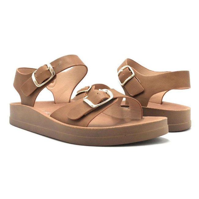 Forever Luisa-13 Tan Color Flat-Sandals Shoes for Women