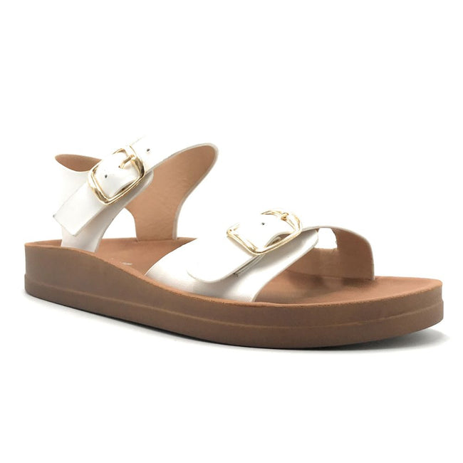 Forever Luisa-13 White Color Flat-Sandals Shoes for Women