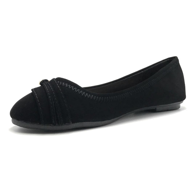 Forever Mika-77 Black Color Ballerina Shoes for Women