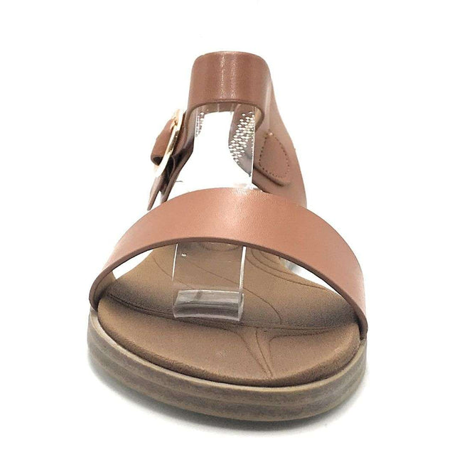 Forever Mild-68 Tan Color Flat-Sandals Shoes for Women