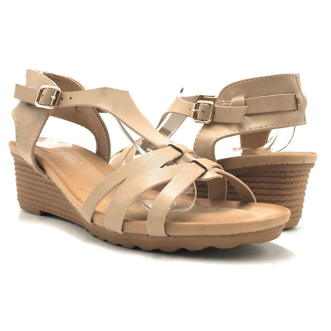 Forever Nibble-9 Taupe Color Flat-Sandals Shoes for Women