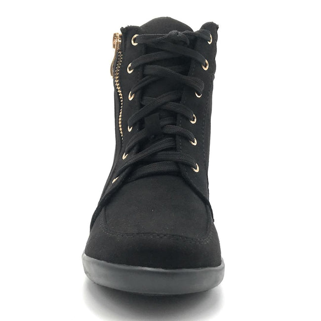 Forever Peggy-56 Black Color Boots Shoes for Women