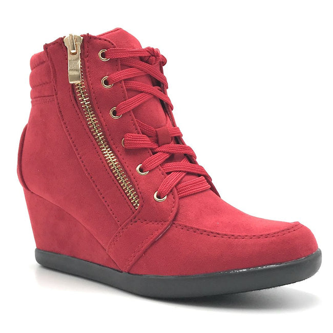 Forever Peggy-56 Red Color Boots Shoes for Women