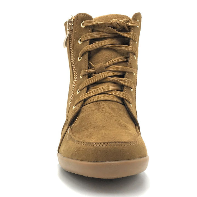 Forever Peggy-56 Tan Color Boots Shoes for Women