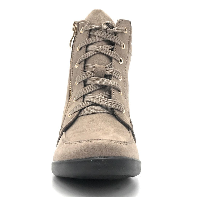 Forever Peggy-56 Taupe Color Boots Shoes for Women