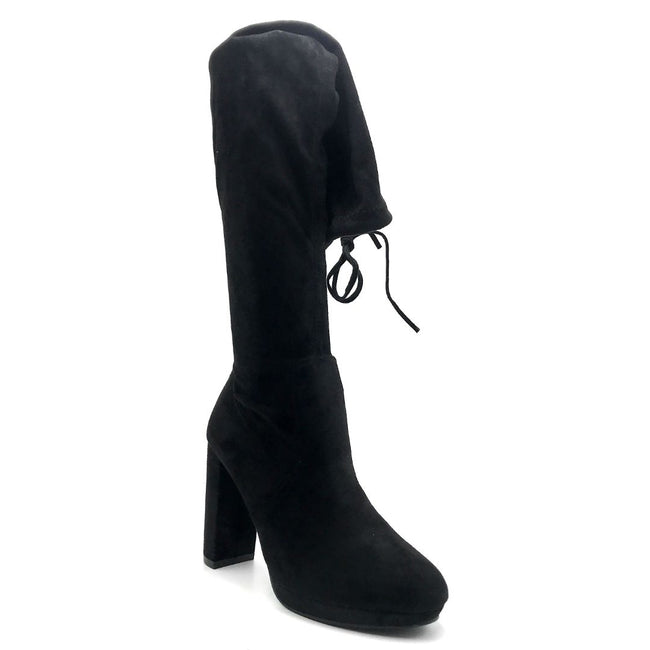 Forever Platty-22 Black Color Boots Right Side View, Women Shoes