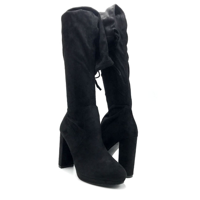 Forever Platty-22 Black Color Boots Both Shoes together, Women Shoes