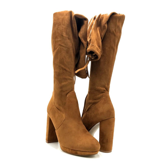 Forever Platty-22 Tan Color Boots Both Shoes together, Women Shoes