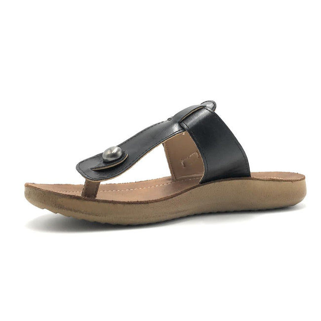 Forever Recent-03 Black Color Flat-Sandals Shoes for Women