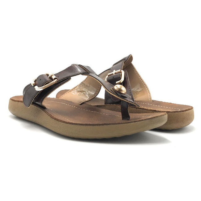 Forever Recent-03 Brown Color Flat-Sandals Shoes for Women