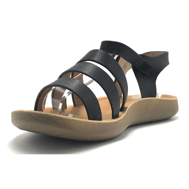 Forever Recent-20 Black Color Flat-Sandals Shoes for Women