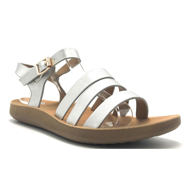 Forever Recent-20 Silver Color Flat-Sandals Shoes for Women