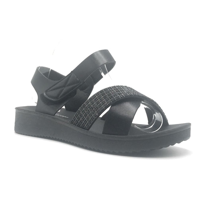 Forever Refill-94 Black Color Flat-Sandals Shoes for Women