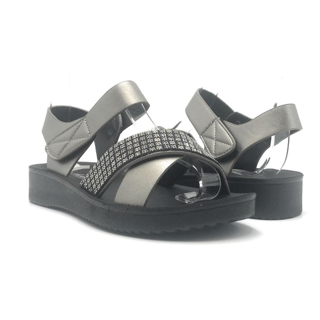 Forever Refill-94 Pewter Color Flat-Sandals Shoes for Women