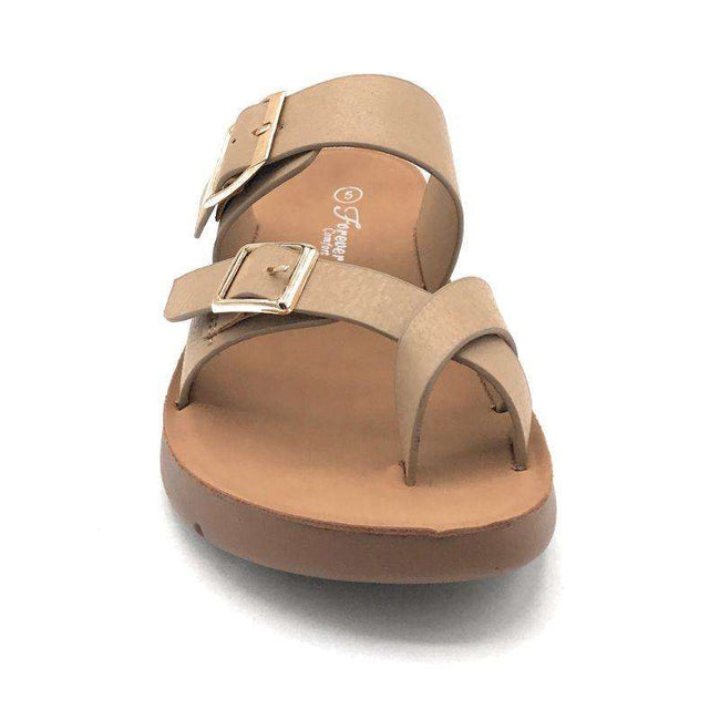 Forever Reform-2 Taupe Color Flat-Sandals Shoes for Women